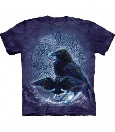 Celtic Raven - Birds T Shirt by the Mountain