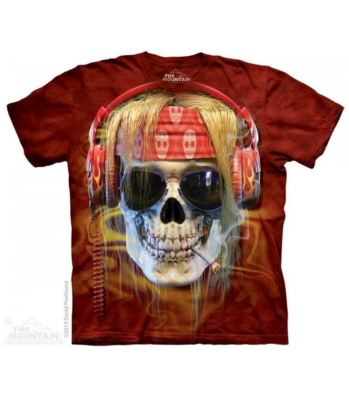 Rocker Skull - Fantasy T Shirt The Mountain