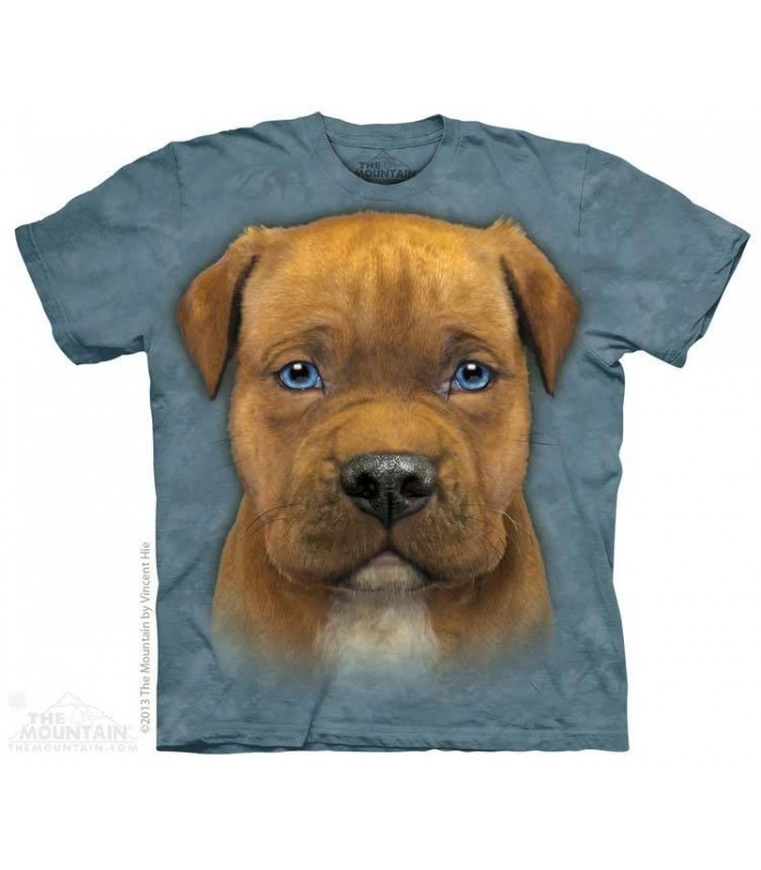 Pit Bull Puppy - Dog T Shirt The Mountain