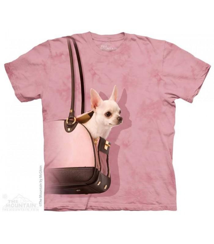 T-shirt Chihuahua en balade par The Mountain
