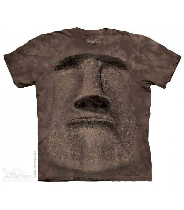 Easter Island Face - Spiritual T Shirt The Mountain