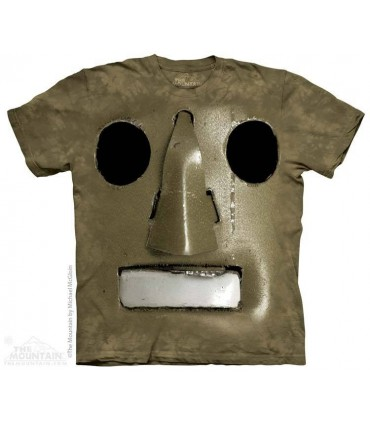 Big Face Vintage Robot - Sci Fi T Shirt The Mountain