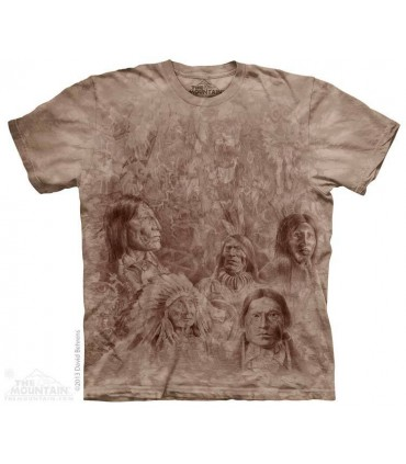 Ancestral Wall - Native American T Shirt The Mountain
