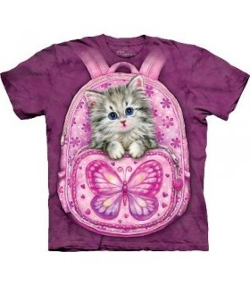 T-Shirt Chaton dans son Sac à Dos par The Mountain