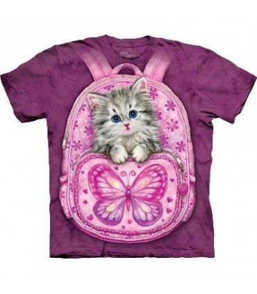 Backpack Kitty - Cats T Shirt by The Mountain