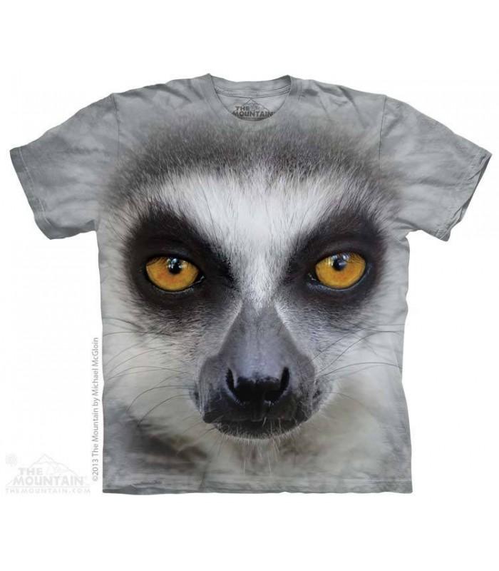 Big Face Ring Tailed Lemur - Animal T Shirt The Mountain