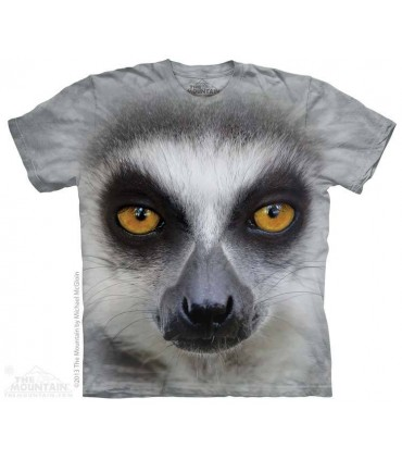 Big Face Ring Tailed Lemur - Animal T Shirt The Mountain