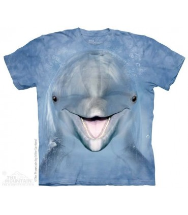Dolphin Face - Sealife T Shirt The Mountain