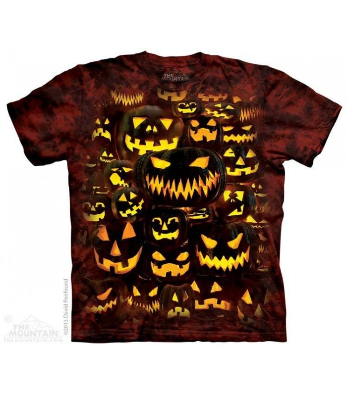 Jack O Lantern Wall - Halloween T Shirt The Mountain