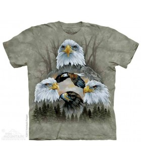 Five Eagle Collage - Bird T Shirt The Mountain