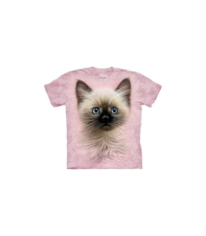 T-Shirt chaton noir et fauve The Mountain
