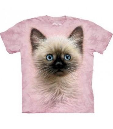 T-Shirt chaton noir et fauve The Mountain