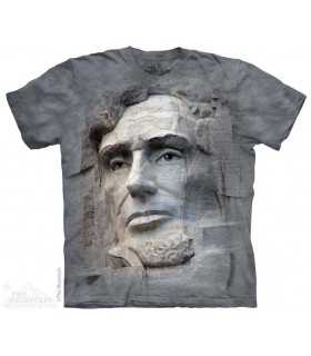 T-shirt Gravure de Lincoln par The Mountain