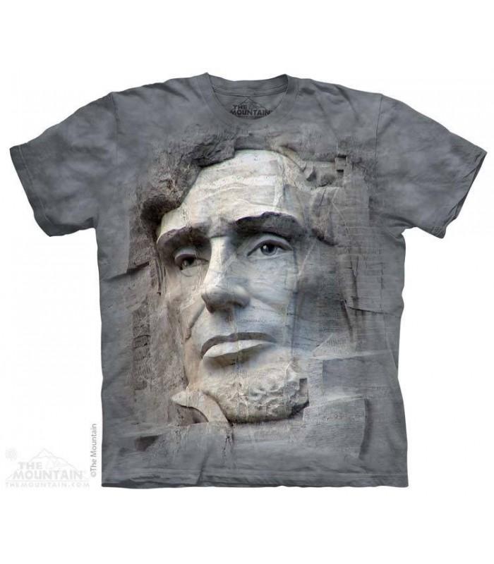 T-shirt Gravure de Lincoln par The Mountain