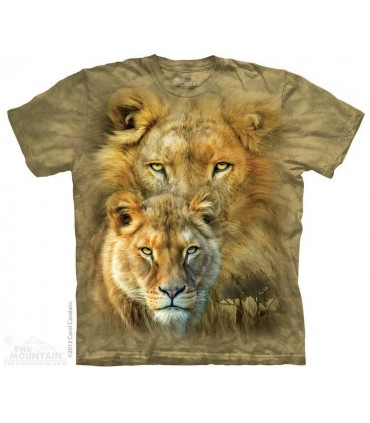 Le Roi de la Savane - T-shirt Lion The Mountain