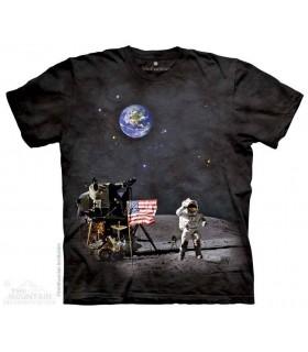Moon Landing - Landscape T Shirt The Mountain