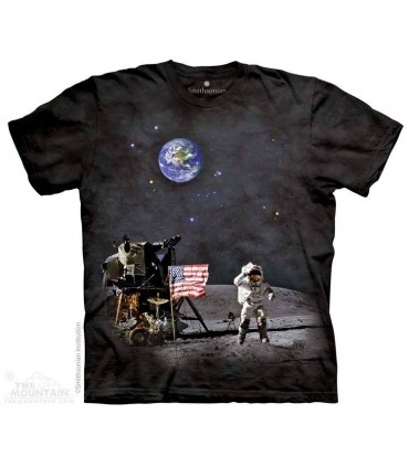 Alunissage - T-shirt Espace The Mountain