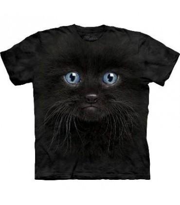 T-Shirt Chaton Noir par The Mountain