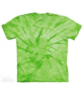 Spiral Green - Mottled Dye T Shirt The Mountain