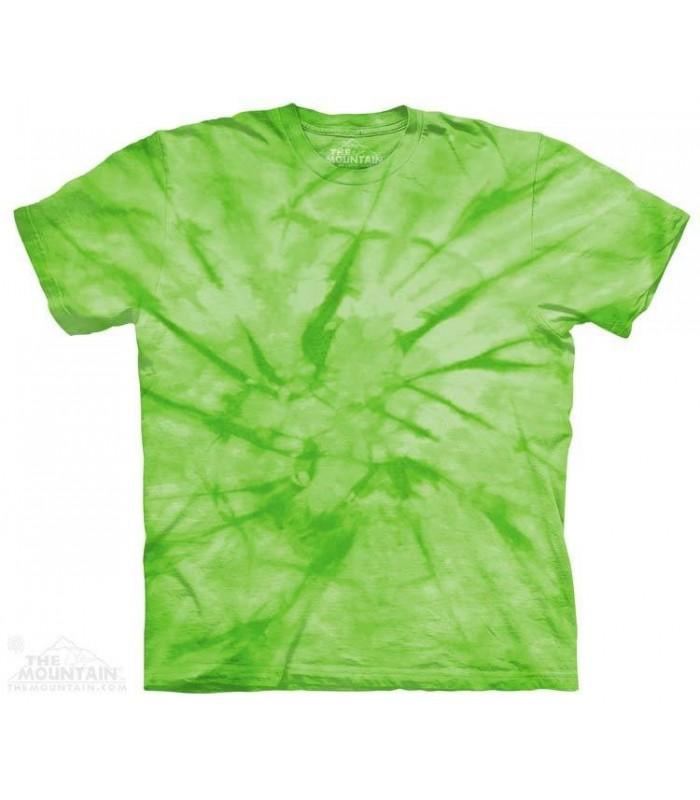 Spiral Green - Mottled Dye T Shirt The Mountain
