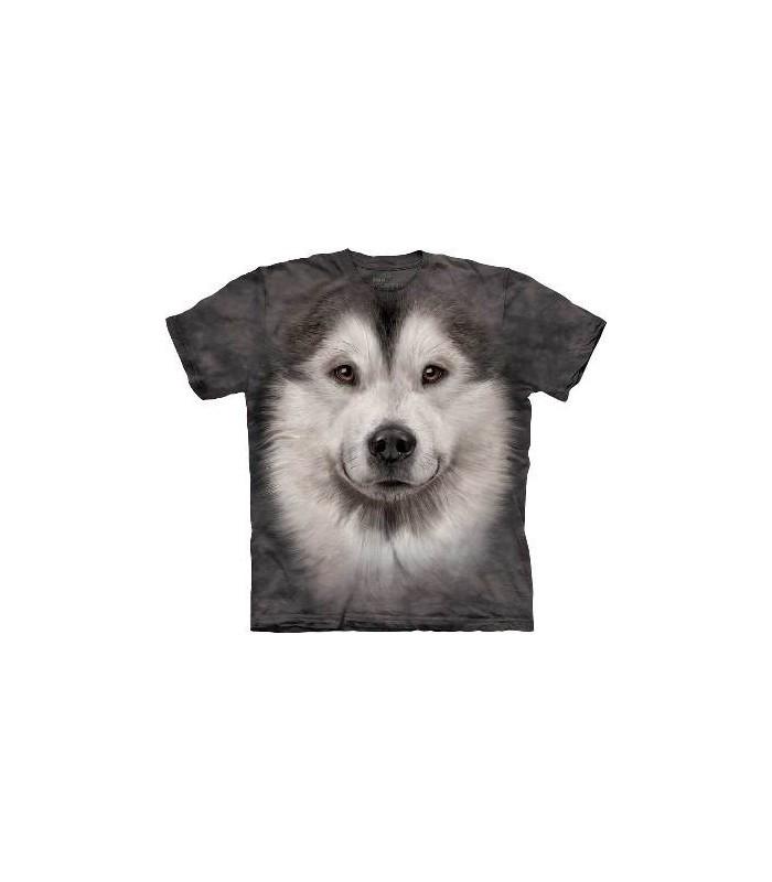 Alaskan Malamute Face - Dogs T Shirt by the Mountain