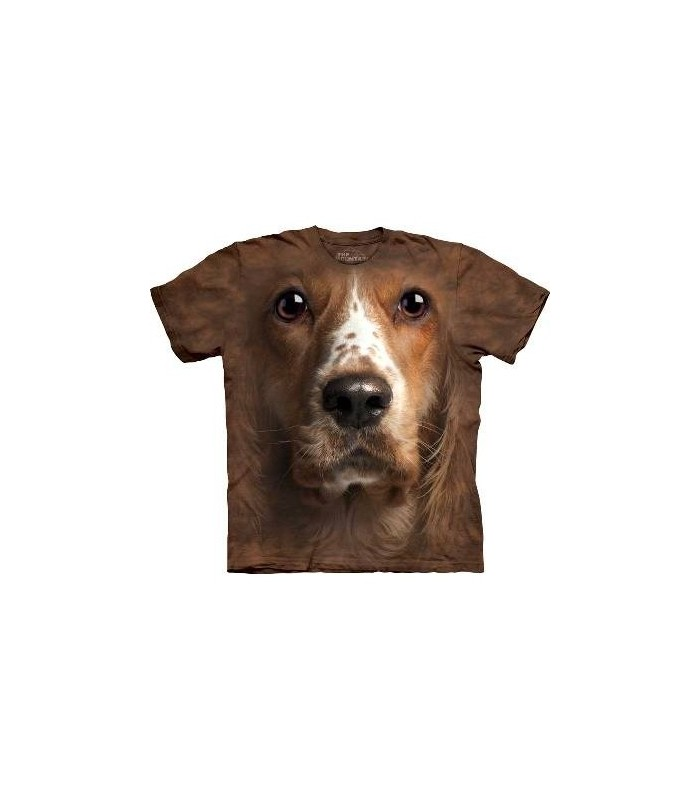 American Cocker Spaniel Face - Dogs T Shirt by the Mountain