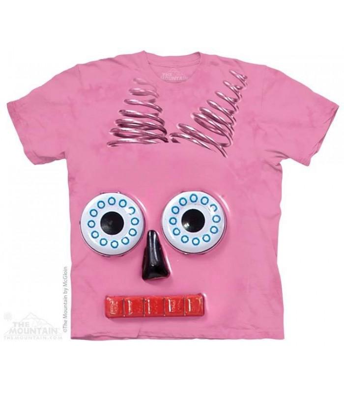 Big Face Pink Robot - Sci Fi T Shirt The Mountain