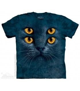 Quatre Yeux - T-shirt chat The Mountain