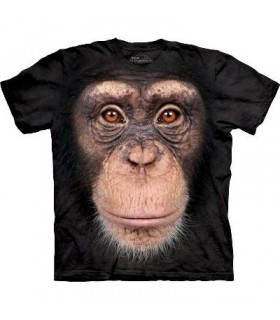 Chimp Face - Primate T Shirt Mountain