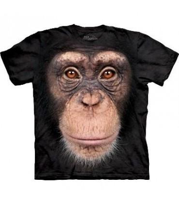 T-Shirt tête de Chimpanzé par The Mountain