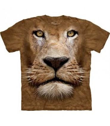 Lion Face - Big Cat T Shirt Mountain