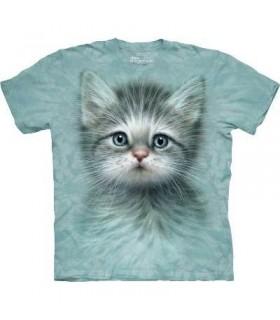 T-Shirt chaton aux yeux bleus par The Mountain