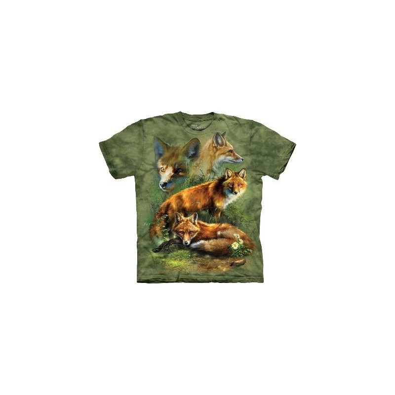Red Fox Collage - Fox T Shirt by the Mountain