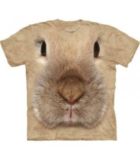 Bunny Face - Rabbit T Shirt by the Mountain