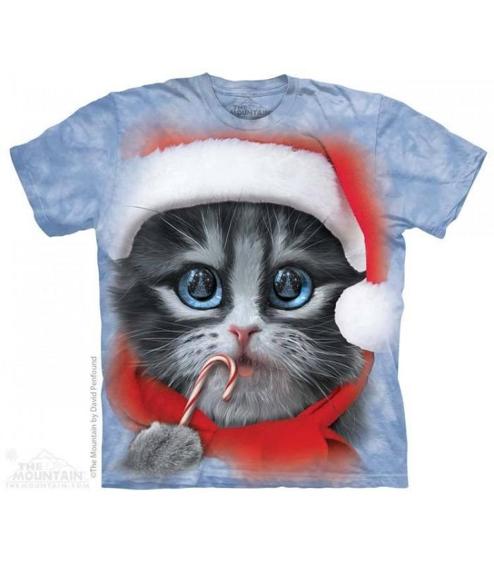 Big Face Xmas Kitty - Christmas T Shirt The Mountain