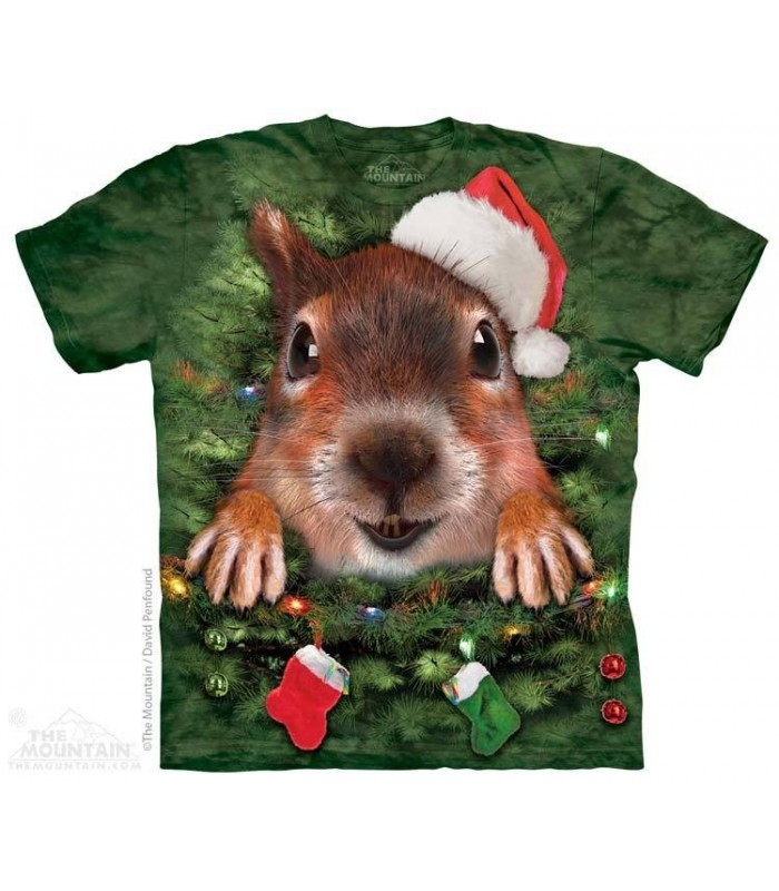 Xmas Tree Squirrel - Christmas T Shirt The Mountain