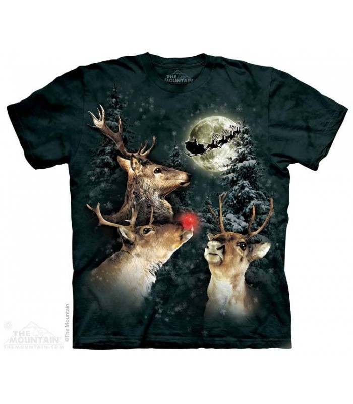 Trois Rennes à la Lune - T-shirt noël The Mountain