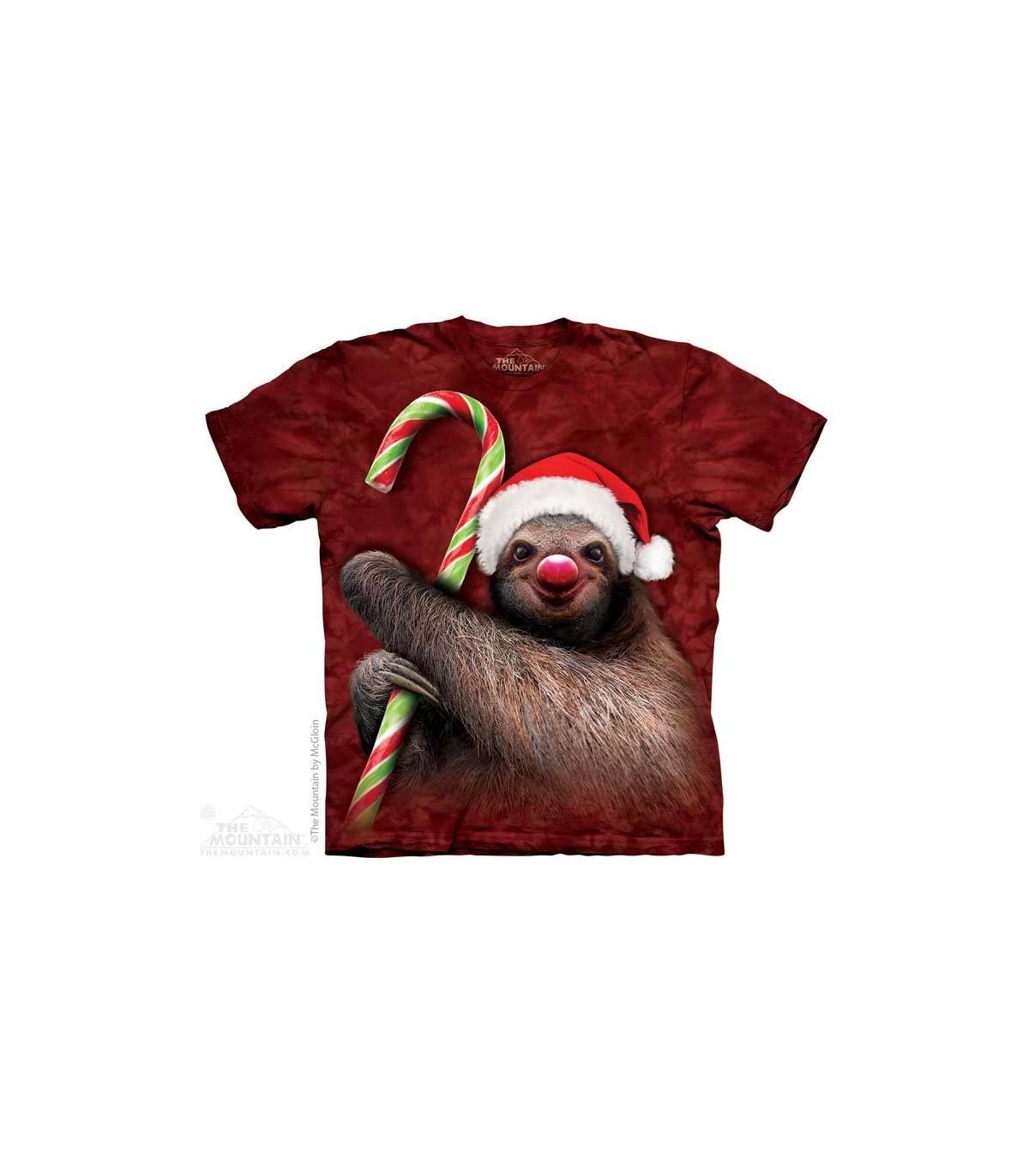Christmas Sloth.Candy Cane Sloth Christmas T Shirt The Mountain