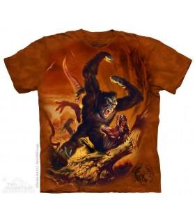 Kong Beatdown - Dinosaur T Shirt The Mountain