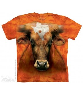 Texas Longhorn - Cow T Shirt The Mountain
