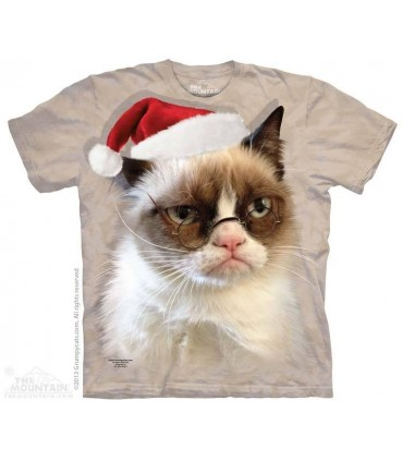 T-shirt Chat Grincheux de Noël The Mountain