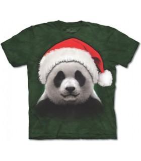 Santa Panda - Christmas T-Shirt The Mountain