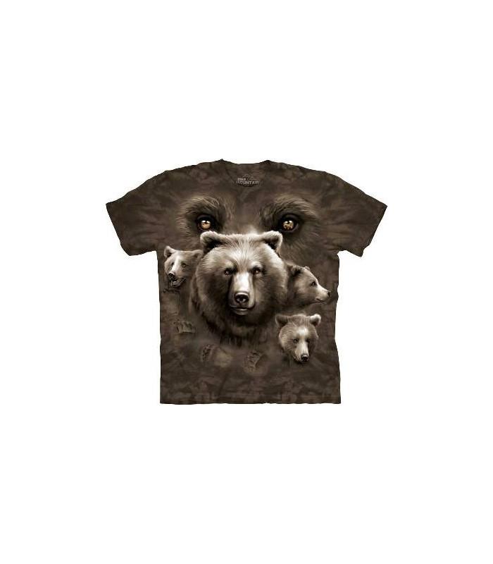 Bear Eyes - Bear T Shirt by the Mountain