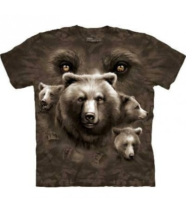 Bear Eyes - Bear T Shirt by the Mountain