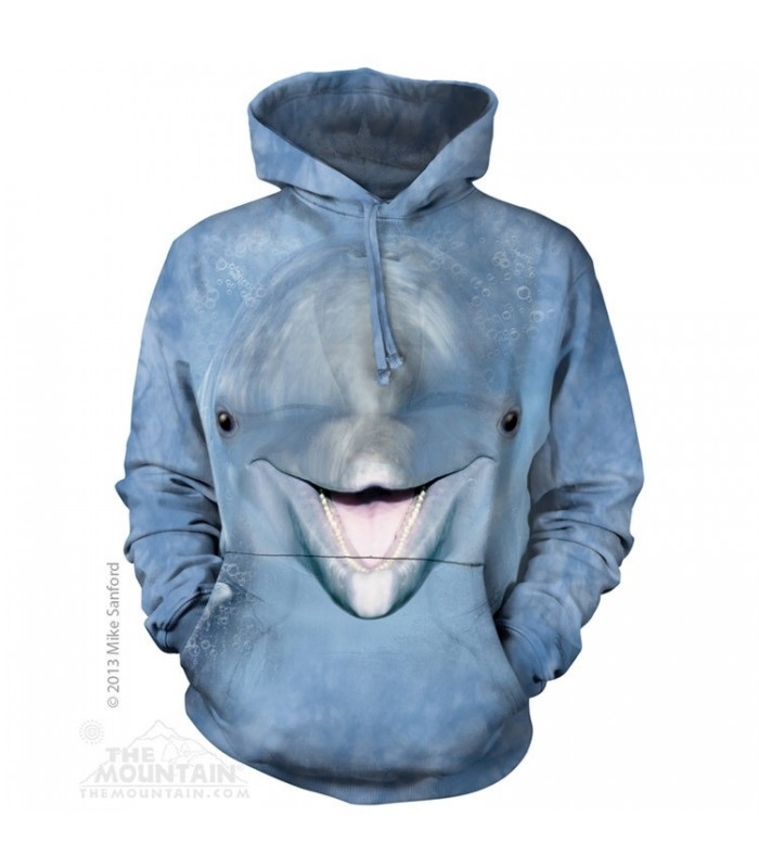 Dolphin Face - Adult Aquatic Hoodie The Mountain