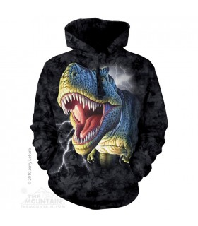 Lightening Rex - Adult Dinosaur Hoodie The Mountain