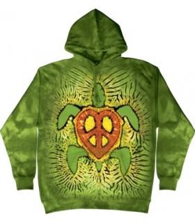 Rasta Peace Turtle - Adult Reptile Hoodie The Mountain