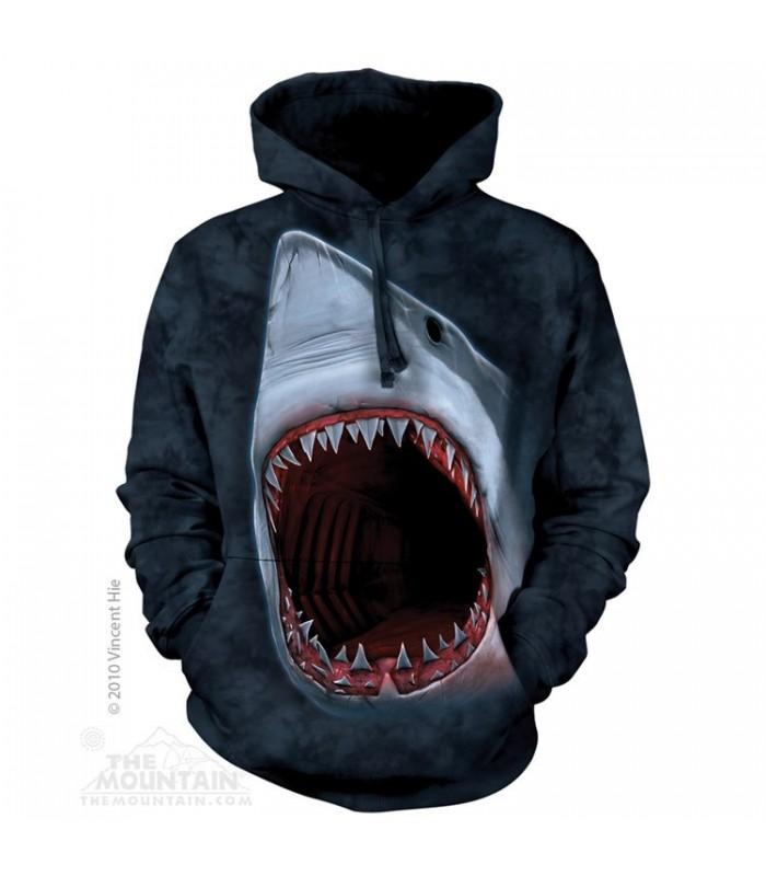 Shark Bite - Adult Aquatic Hoodie The Mountain