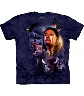 Brave Collage - Indian T Shirt by the Mountain