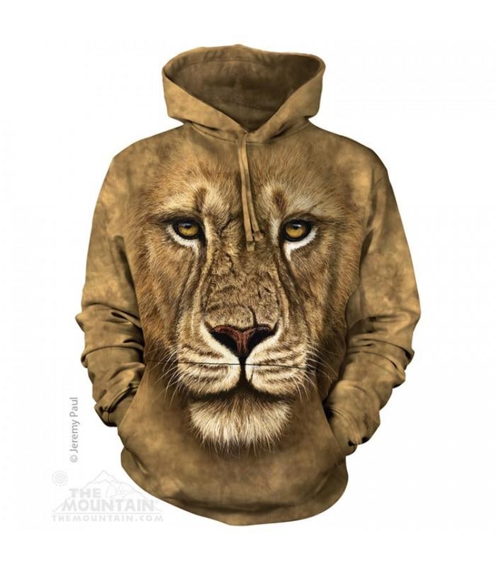 Sweat shirt à capuche Guerrier Lion The Mountain